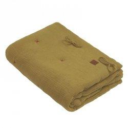 Kołderka z podusią i Rożek z oddychającej bawełny organicznej GOTS QUILT BABY HORN Olive