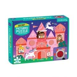 Puzzle z ukrytymi obrazkami Zamek jednorożca 42 elementy
