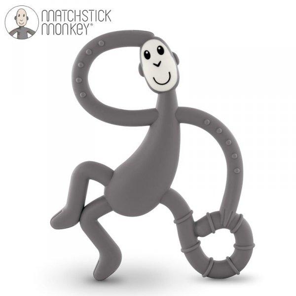 Monkey Dancing Grey Terapeutyczny Gryzak Masujący ze Szczoteczką