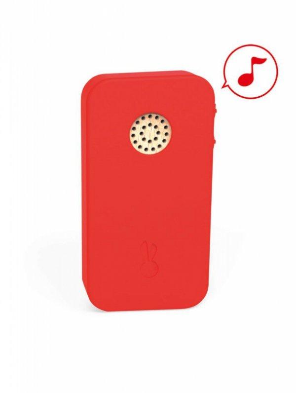 Telefon drewniany z dźwiękami
