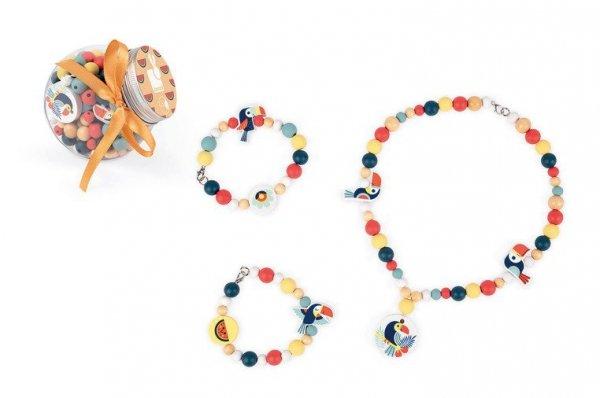 Zestaw do tworzenia biżuterii Drewniane koraliki Tukany