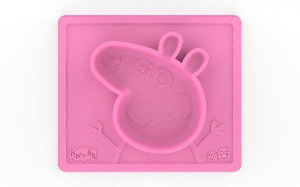 Silikonowa miseczka z podkładką 2w1 Peppa Pig™ różowa