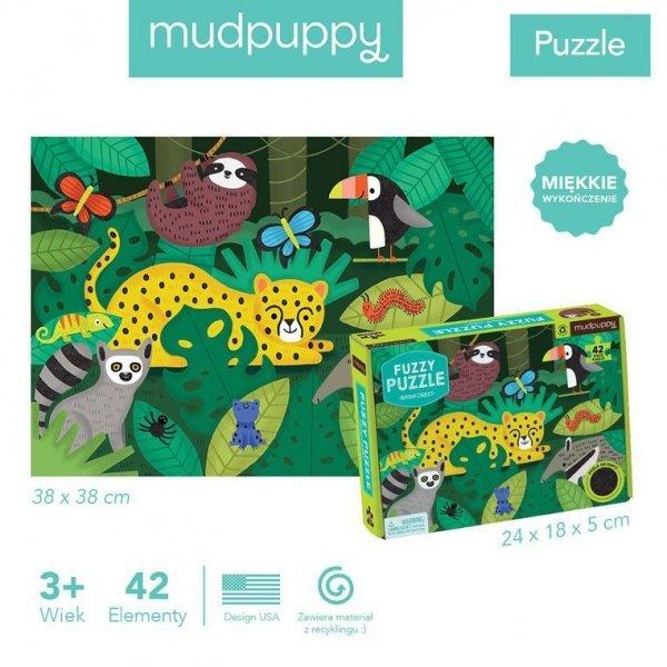 Puzzle sensoryczne z miękkimi aplikacjami Tropikalny las 42 elementy