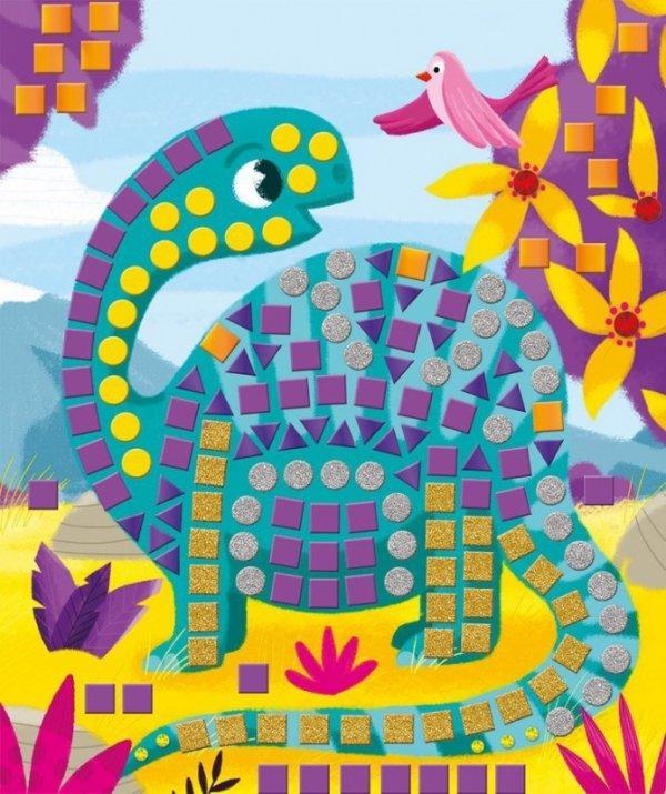 Zestaw kreatywny Mozaika Dinozaury