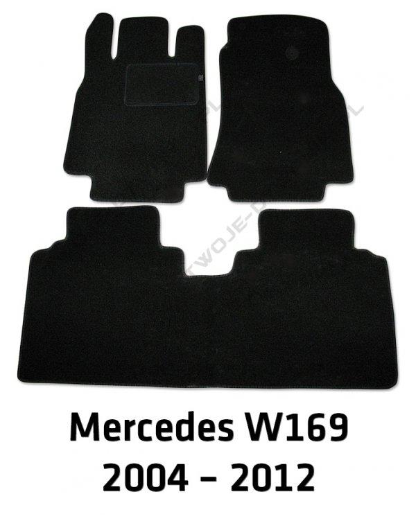 Dywaniki welurowe Mercedes W169 A-Klasa