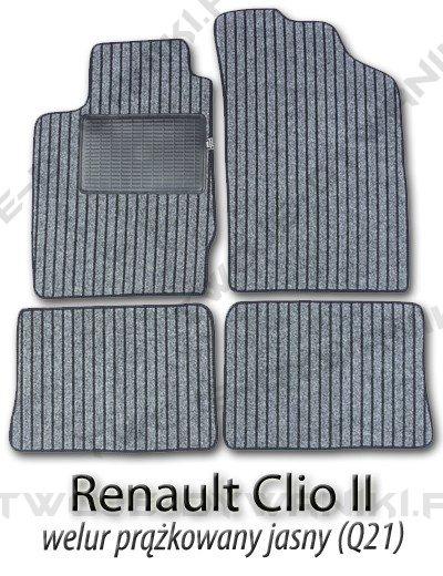 Dywaniki welurowe Renault Clio