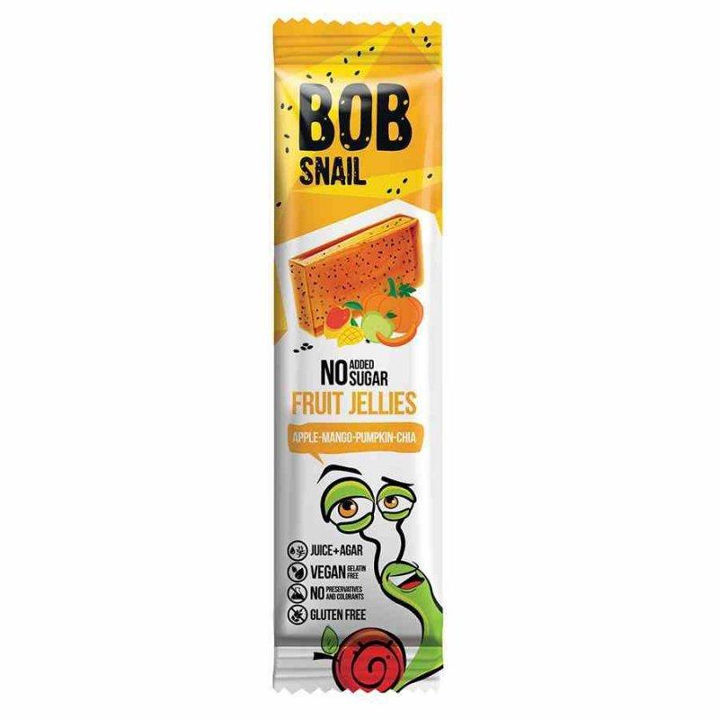 Przekąska Jellies jabłko-mango-dynia-chia bez dodatku cukru Bob Snail, 38g