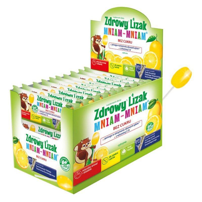 Zdrowy Lizak Mniam-Mniam o smaku cytrynowym Starpharma, 6g