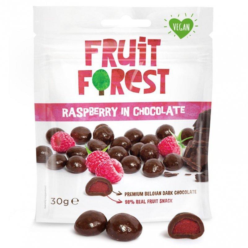 Owocożelki z maliną w czekoladzie Fruit Forest, 30g