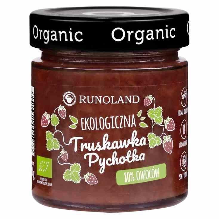 Pychotka truskawkowa 80% owoców o konsystencji konfitury Runoland BIO, 200g