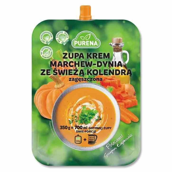 Zupa krem marchew-dynia ze świeżą kolendrą zagęszczona Purena, 350g