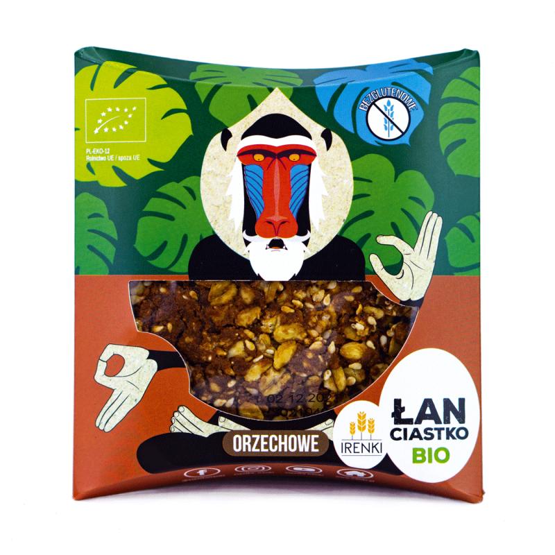 Ciastko ŁAN z masłem orzechowym Irenki BIO, 40g