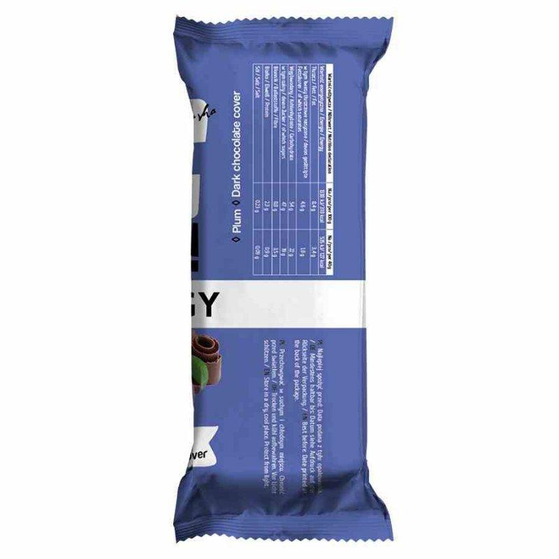"""Baton śliwka w czekoladzie BeRaw Energy """"Plum"""" Purella, 40g"""