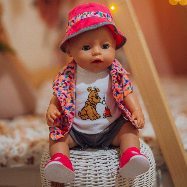 WOOPIE Kolorowe Ubranko dla Lalki Piesek Kurteczka Czapeczka 43-46 cm