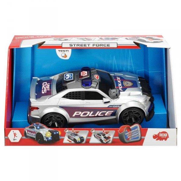 Dickie Samochód Policyjny Radiowóz Street Force Dźwięk Światło