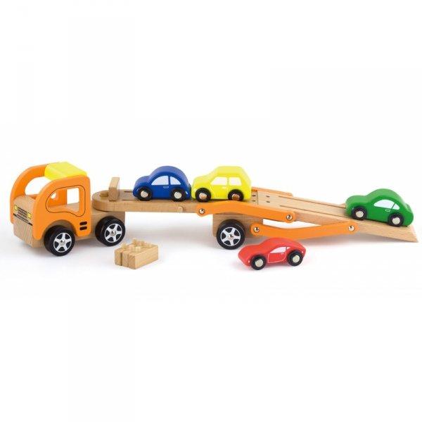 Drewniana laweta z samochodzikami Viga Toys