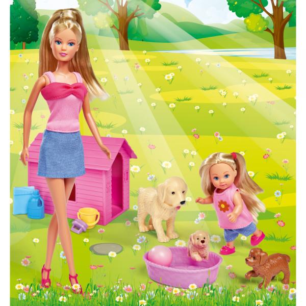 Simba Steffi i Evi ze Zwierzątkami Pieski