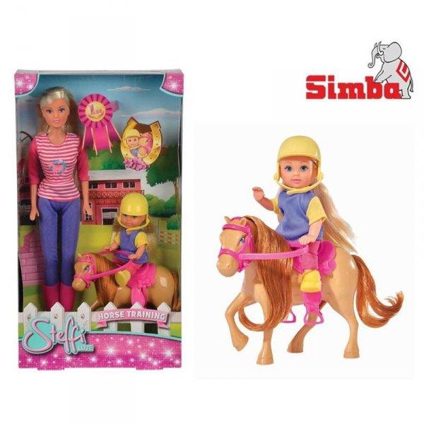 SIMBA Lalka Steffi i Evi z konikiem