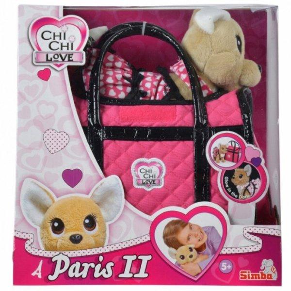 Simba Chi Chi Love Piesek Maskotka w Torebce PARIS II Świecący