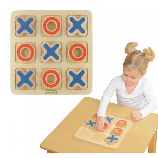 Kółko I Krzyżyk Drewniana Gra Dla Dzieci Logiczna Łamigłówka