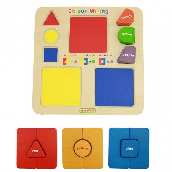 MASTERKIDZ Tablica Edukacyjna Układanka Łączenie Mieszanie Kolorów