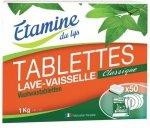 Etamine du Lys, Tabletki do zmywarki Bezzapachowe 50 szt, 1000 G