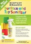 Bentley Organic, Dziecięcy Spray Dezynfekujący do Mycia Zabawek MINI 50ml