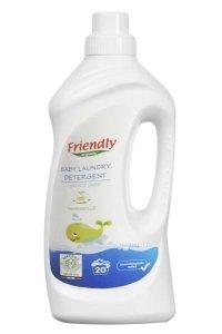 Friendly Organic, Płyn do prania ubranek dziecięcych, 1L, Mydło Marsylskie
