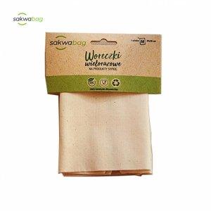 Sakwabag, Woreczek na produkty sypkie, zero waste, 14x18cm