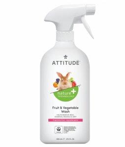 Attitude, Płyn do mycia owoców i warzyw, Bezzapachowy, 800 ml