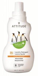 Attitude, Płyn do prania, Skórka Cytrynowa (Citrus Zest), 35 prań, 1050 ml