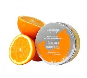 Uoga Uoga, Peeling do ciała z solą morską i olejkiem ze słodkiej pomarańczy How hot is that?, 200ml