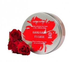 Uoga Uoga, Naturalny nawilżający krem do ciała z olejkiem z dzikiej róży, 200ml