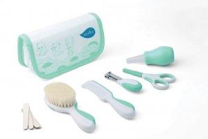 Nuvita, Zestaw akcesoriów do pielęgnacji dziecka w kosmetyczce, Green