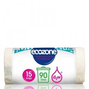 Ecozone, Biodegradowalne Worki na Odpady, 90L, 15 szt.
