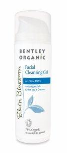 Bentley Organic, Skin Blossom, Antyoksydacyjny żel do mycia twarzy, 150ml