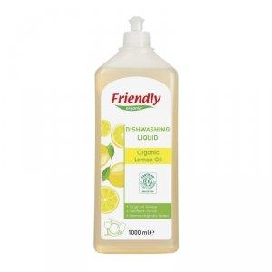 Friendly Organic, Płyn do mycia naczyń Cytrynowy, 1000 ml