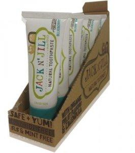 Jack N'Jill, Naturalna Pasta do zębów, organiczna borówka i Xylitol, 50g - KARTON, 6 szt.