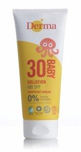 Derma Eco Baby, Balsam Przeciwsłoneczny dla Dzieci SPF30, 200 ml