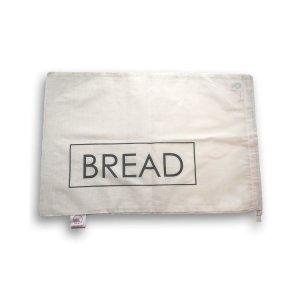 Bag-again, Worek z organicznej bawełny z nadrukiem BREAD, 47 x 31 cm