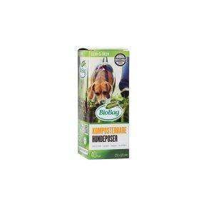 Worki BIOBAG DOG w 100% Biodegradowalne i Kompostowalne 22x32cm 40 sztuk w kartoniku