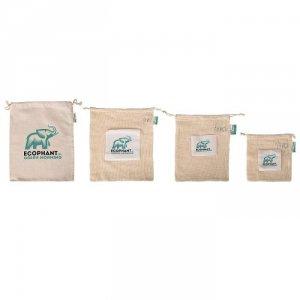 Zestaw wielorazowych ekologicznych woreczków na produkty spożywcze 7szt.