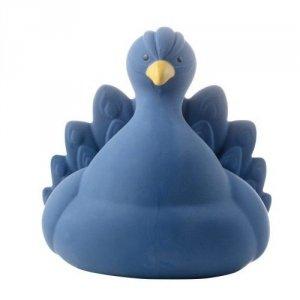 Naturalny gryzak, zabawka do kąpieli, Paw, niebieski