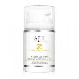 Apis - Discolouration-Stop Brightening Night Cream rozjaśniający krem redukujący przebarwienia na noc 50ml