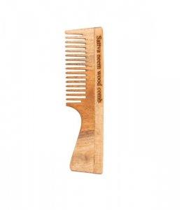 Sattva - Neem Wood Comb grzebień do włosów z drzewa miodli indyjskiej 19cm