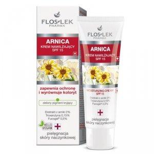 Floslek - Arnica krem nawilżający SPF15 do skóry naczynkowej 50ml