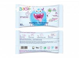 Booboo - Szampon micelarny dla dzieci w chusteczkach 30szt