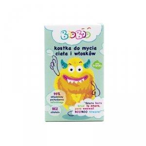 Booboo - Kostka do mycia ciała i włosów dla dzieci 60g