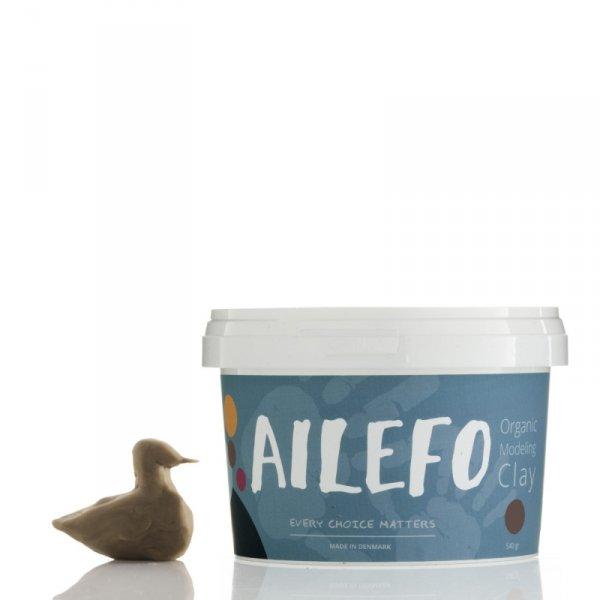 Ailefo, Organiczna Ciastolina, duże opakowanie, brąz, 540g