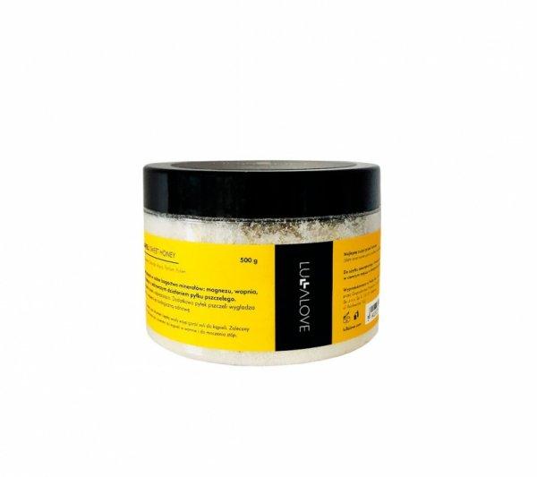 LullaLove, Sól do kąpieli z pyłkiem pszczelim, 500 g